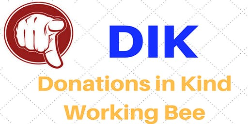 Donations in Kind working Bee 2019