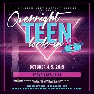 PRBC Overnight Teen Lock-In