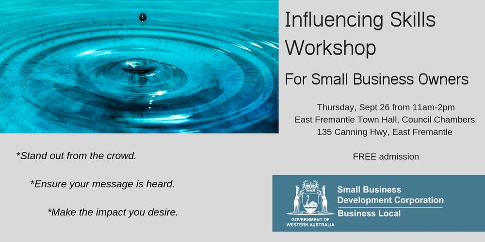 Influencing Skills Workshop for Small Business Owners
