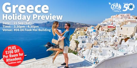 Greece Holiday Preview tickets