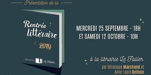 Présentation de la rentrée littéraire - 2019 -