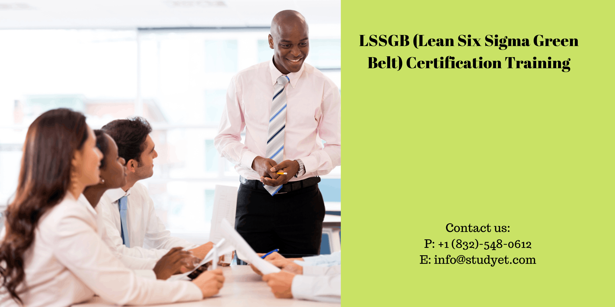 Lean Six Sigma Green Belt (LSSGB) Online Classroom Training in Chicago, IL