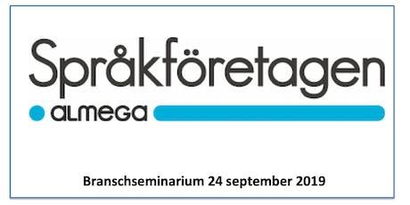 Språkföretagens Branschseminarium biljetter