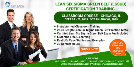 Lean Six Sigma Green Belt (LSSGB) Certification Training Course in Chicago, IL, USA.