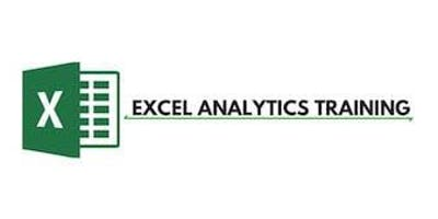 Excel Analytics 3 Days Training in Newcastle
