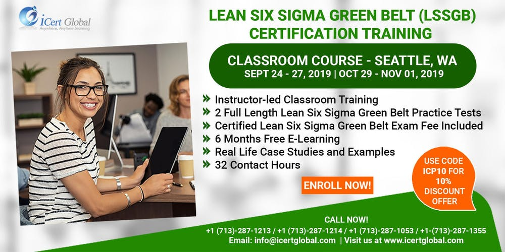 Lean Six Sigma Green Belt Lssgb Certification Training Course In Seattle Wa Usa