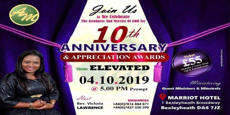 AOM 10th ANNIVERSARY AND APPRECIATION AWARD NIGHT ( TICKETS NOW ON SALE) tickets