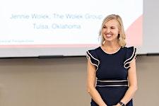 Jennie Wolek with The Wolek Group logo