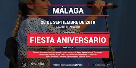 Concierto Fiesta aniversario con Nerea Arroyo en Pause&Play Vialia Málaga entradas