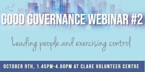Good Governance Webinar #2