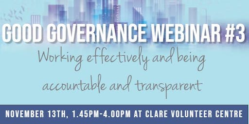 Good Governance Webinar #3