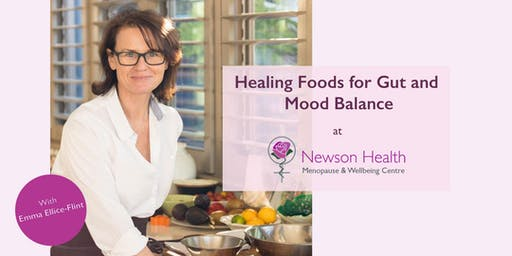Healing Foods for Gut and Mood Balance cooking demonstration.