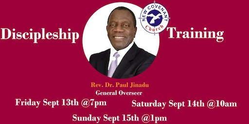 Discipleship Training with G O (Bro. Paul Jinadu) - Sept. 13th,14& 15th