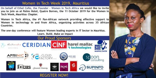 Women in Tech Week, Mauritius Chapter 2019