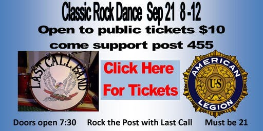 Last Call Band at Stewartstown American Legion  Sept 21 8-12