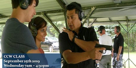 Concealed Pistol Training aka CCW Wednesday Sept. 25th 2019 7am $125 tickets