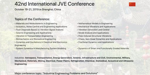 42nd International JVE Engineering Conference in Shanghai, China