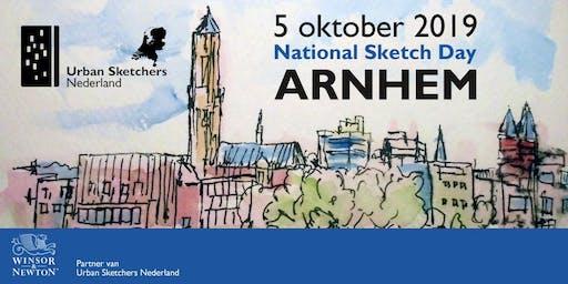 National Sketch Day Arnhem - 5 oktober 2019 - Urban Sketchers Netherlands