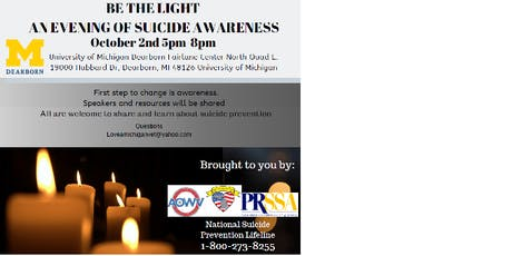 Be the Light--An Evening of Suicide Awareness tickets