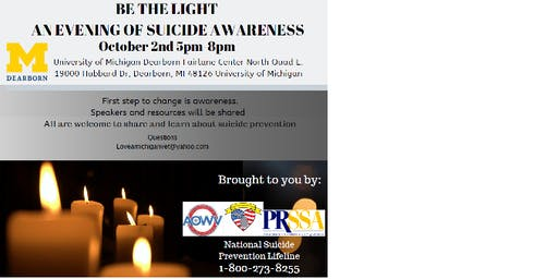 Be the Light--An Evening of Suicide Awareness