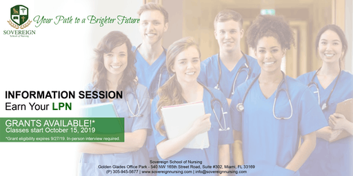 Earn Your LPN | Information Session | Grants Available!
