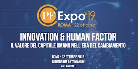PFEXPO  '19: Innovation & Human Factor biglietti