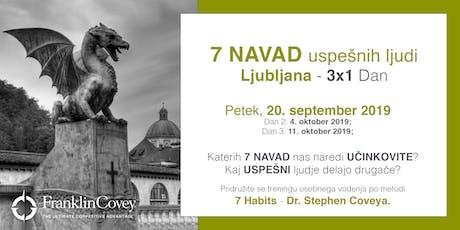 7 Navad - Ljubljana - September biglietti