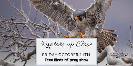 Raptors up close - Free raptor demonstration and dinner tickets