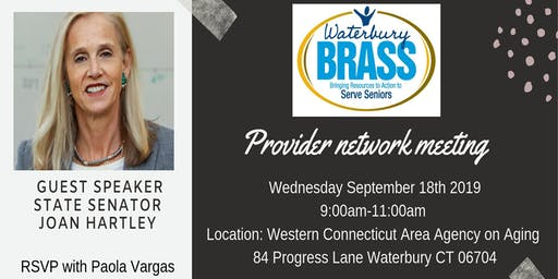 BRASS Provider Network Meeting