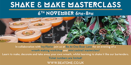 Shake & Make.... Wreath Making Masterclass! tickets