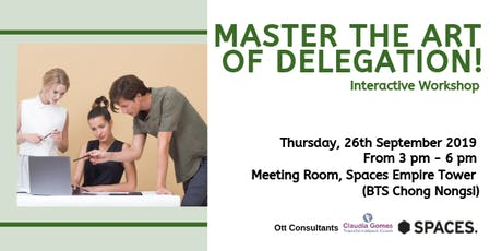 Master the art of delegation! tickets