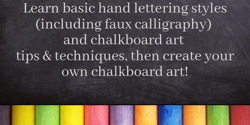 Chalked: Hand Lettering Styles Workshop