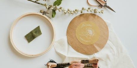 """""""Ellie Pavlichek"""" Embroidery Workshop tickets"""