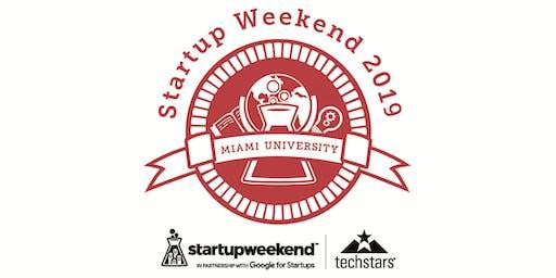 Techstars Miami University Startup Weekend Oxford Fall 2019