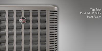 Top Tech Ruud 14-16 Seer Heat Pumps