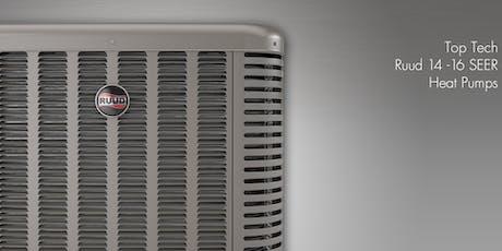 Top Tech Ruud 14-16 Seer Heat Pumps tickets