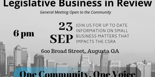 Legislative Business in Review and Chamber Update