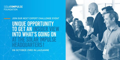 Solar Impulse Foundation Expert challenge event in Lausanne tickets
