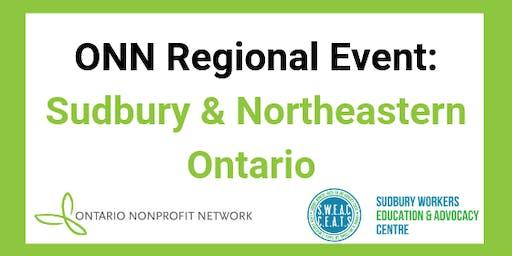 Ontario Nonprofit Network Regional Event: Sudbury & Northeastern Ontario