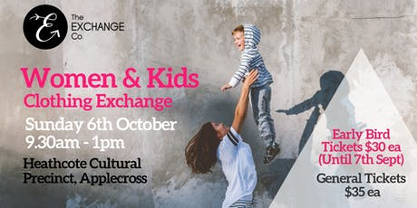 Women and Kids Clothing Exchange tickets