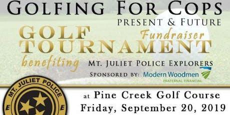 Mt. Juliet Police Explorer Golfing for COPS tickets