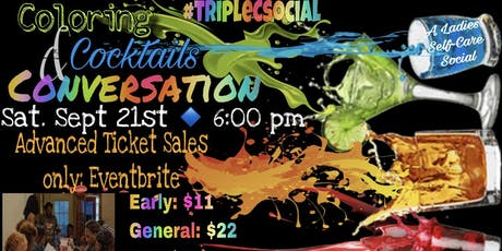 #tripleCsocial: Coloring, Cocktails & Conversation tickets