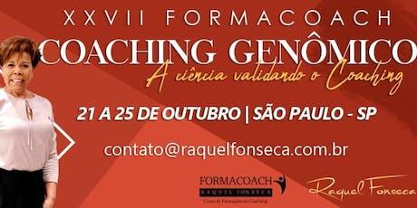 FORMACOACH - Curso de Formação em Coaching Genômico I Outubro - São Paulo - 2019 ingressos