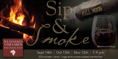 Full Moon Sip & Smoke at Weathered Vineyards Ephrata tickets