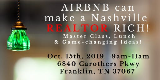 AIRBNB can make a REALTOR/INVESTOR RICH!