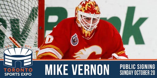 Mike Vernon Signing at the Toronto Sports Expo