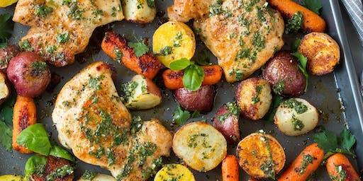 UBS Cooking School: Roast Chicken with Herb Vinaigrette