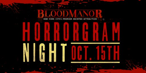 Blood Manor 2019 -  Tuesday, October 15th