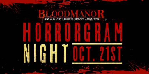 BloodManor 2019 -  Monday, October 21st