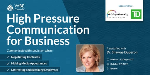 High Pressure Communication for Business